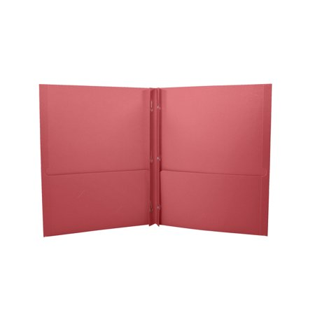 School Smart 2 Pocket Folder with Fasteners, Red, Pack of 25](School Supplies On Sale)