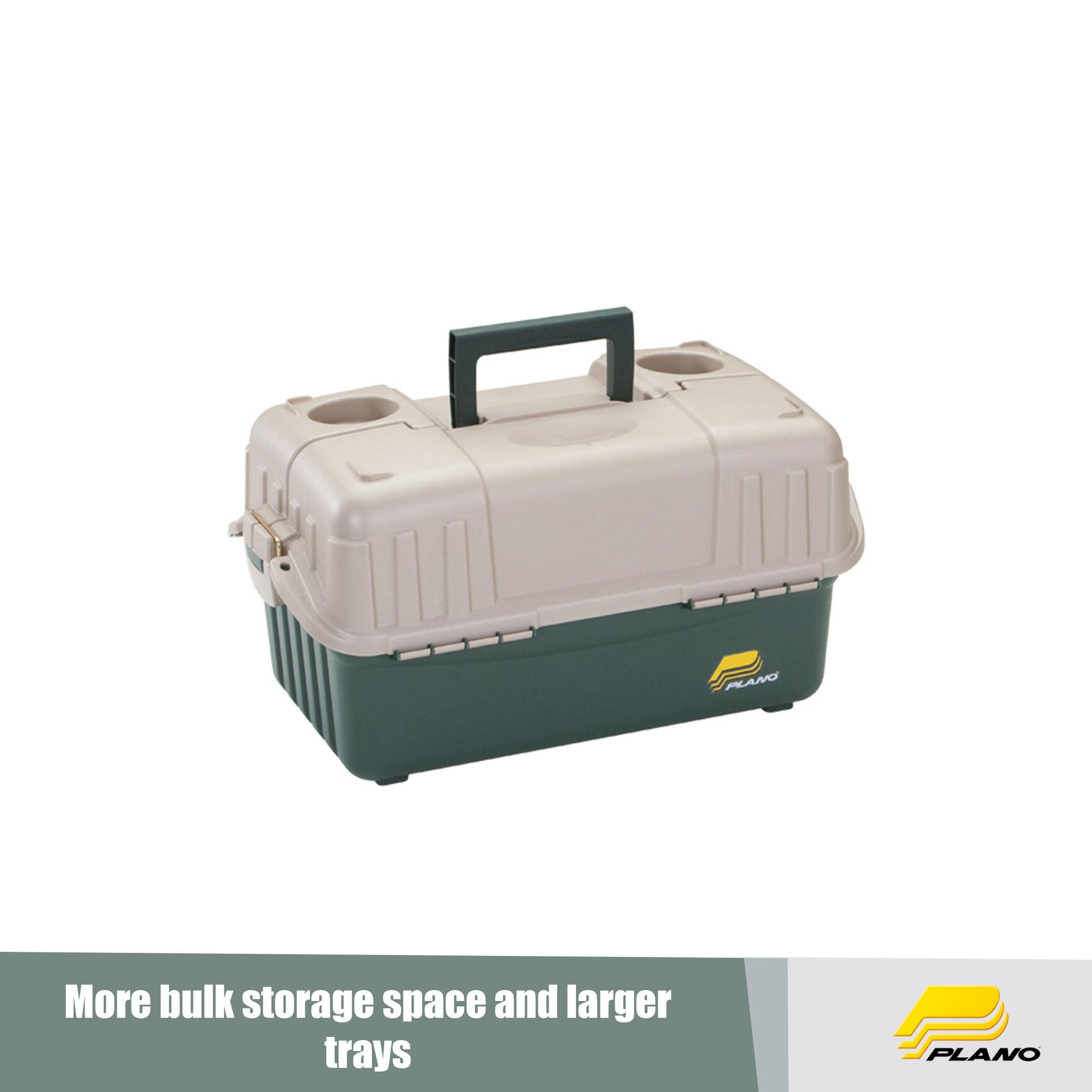 Dark Green//Beige Plano Fishing Large Six Tray Tackle Storage Box