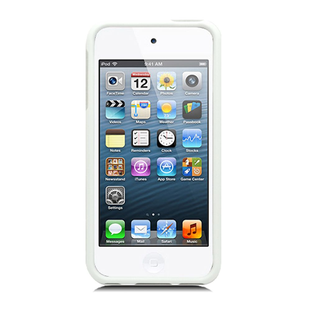 Insten Hard Rubber Coated Case For Apple iPod Touch 5th Gen - White - image 2 of 3