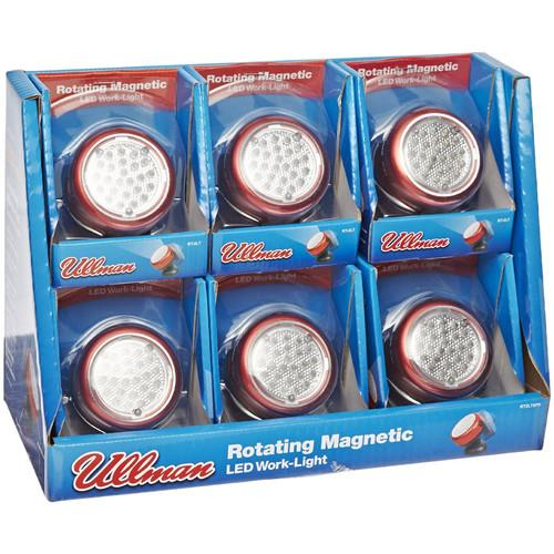 Ullman Devices Corp. RT2LT6PK Rotating Magnetic Led Work Light - 6-pack Display