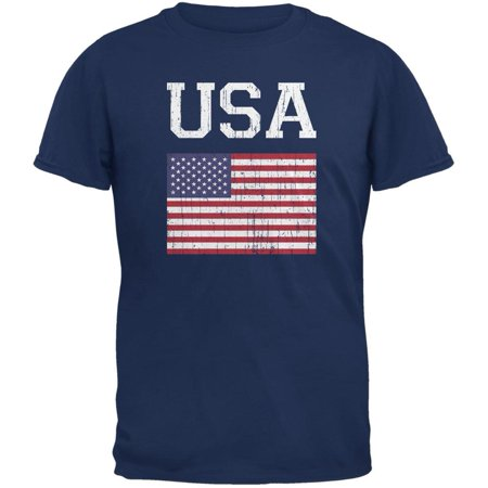 World Cup Distressed Flag USA Metro Blue Adult - Metro 7 Clothing