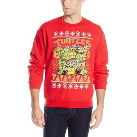 Men's TMNT Group and Pizza Ugly Christmas Sweater](Pizza Sweater)