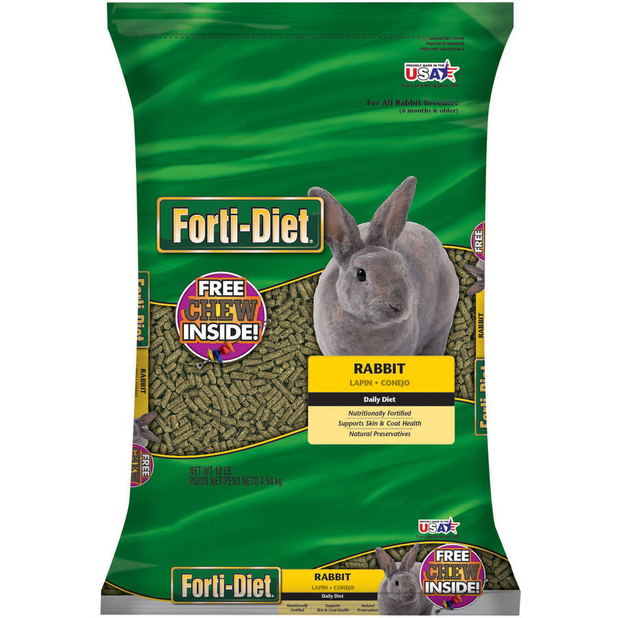 FORTI-DIET Rabbit Food with Toy, 10 lb