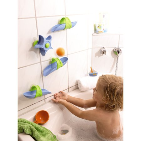 Haba Bathtub Ball Track Toy Set - Infant Child Tub Bathtime