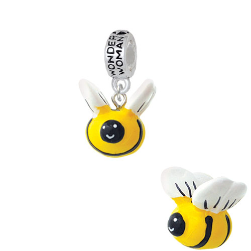 70-Pack Shipwreck Beads Zinc Alloy Bee Charm Silver 16 by 21mm