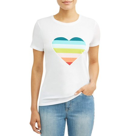 Sparkle Heart Tee (Women's Ombre Heart Crew Neck)