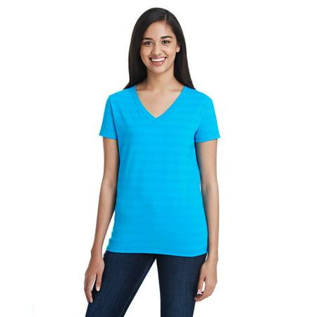 252RV T-Shirt Threadfast Apparel Th Linvsbl Strp Vnk T