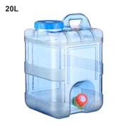LeKing 15L 20L Pure Water Plastic Bucket Home Water Storage Container With Lid Car Self-driving Tour with Faucet Mineral Water Barrel