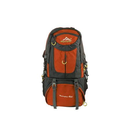 HWJIANFENG Authorized Camping Pack Travel Hiking Backpack Orange 40L (Orange Backpack)