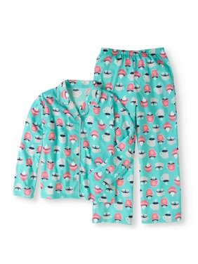 992aa8c137 Product Image Girls  Brushed Jersey Coat Style 2-Piece Sleepwear Set. Toast    Jammies