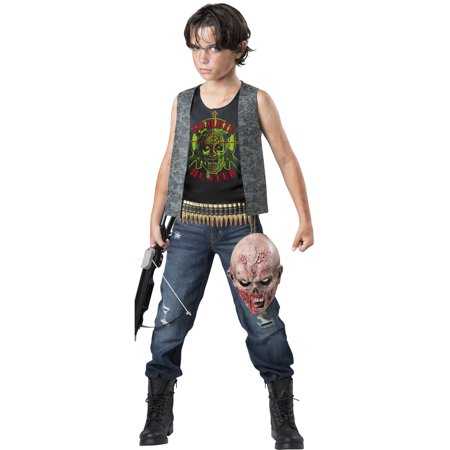Zombie Hunter Boys Child Walking Dead Daryl Halloween - Zombie Hunter Halloween Costume Ideas