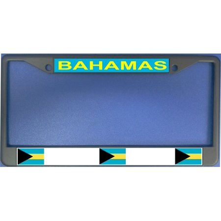 Bahamas Flag Photo License Plate Frame  Free Screw Caps with this Frame