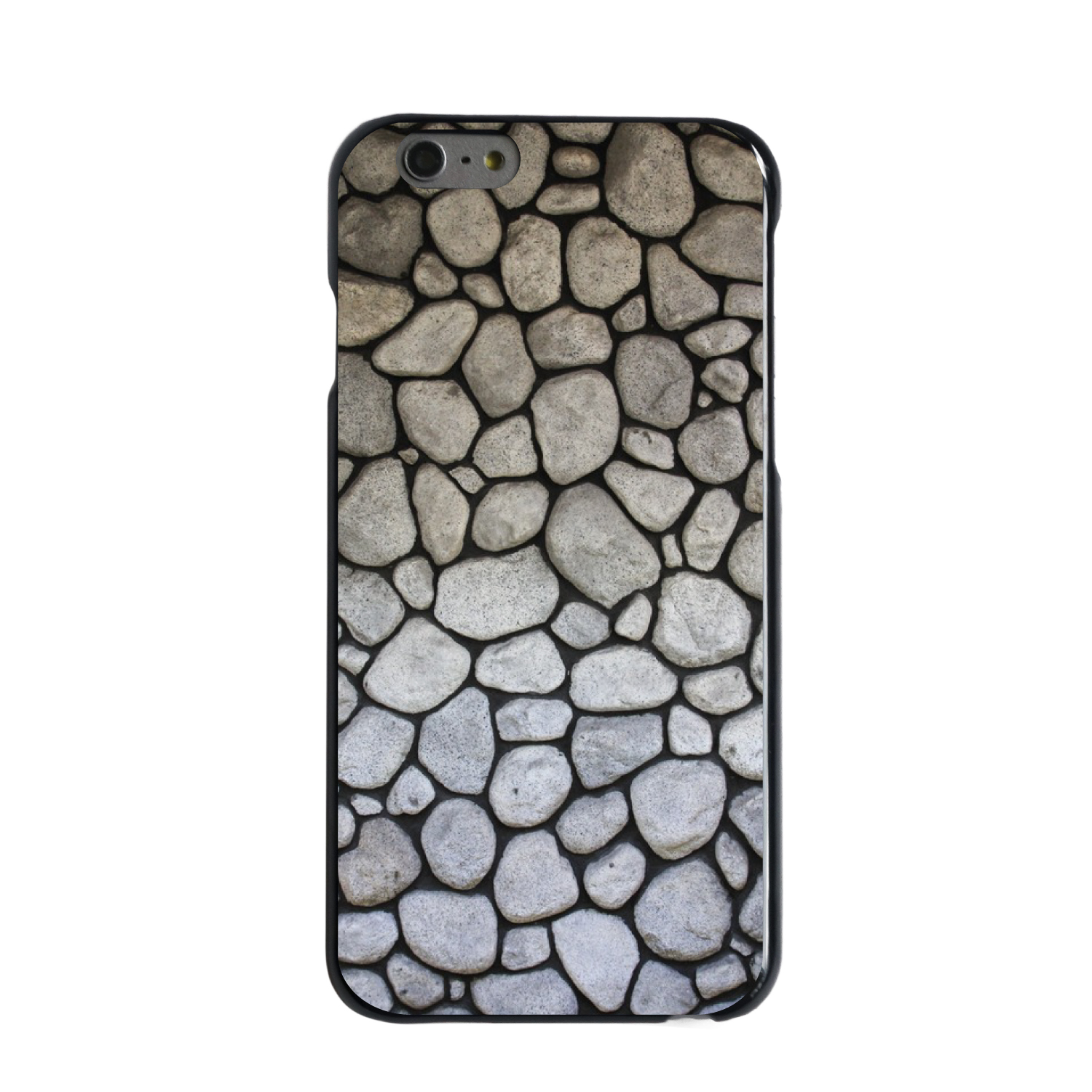 "CUSTOM Black Hard Plastic Snap-On Case for Apple iPhone 6 / 6S (4.7"" Screen) - Flag Stone Wall"