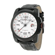 M14 Series White Dial Black Leather Mens Watch 1407