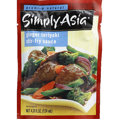 Simply Asia Ginger Teriyaki Stir-Fry Sauce Mix, 4.2 fl oz, (Pack of 6)