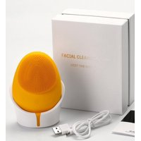 ($100 Value) ZAQ Mellow W-Sonic Silicone Facial Cleansing Brush, Yellow