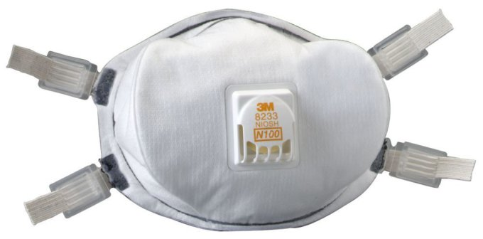 3M 8233 N100 Particulate Respirator Case of 20 by