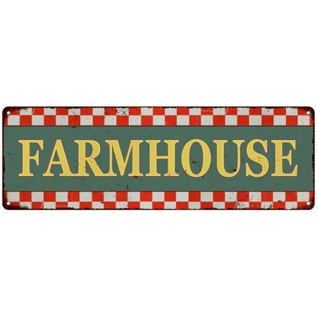 Old Style Metal - Farmhouse Checkerboard Country Style Vintage Metal Sign 6x18 Old Advertising Man Cave Game Room M6180696
