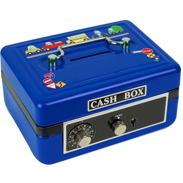 Personalized Cars and Trucks Cash Box