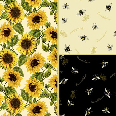 David Textiles Follow the Sun Cotton 1-Yard Fabric Cut ()