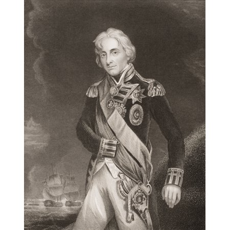 Horatio NelsonLord NelsonViscount Nelson 1758-1805 British Naval CommanderEngraved By JRogersPainted By Hoppner From Englands Battles By Sea And Land By Lieut Col Williams The London Printing And Publ