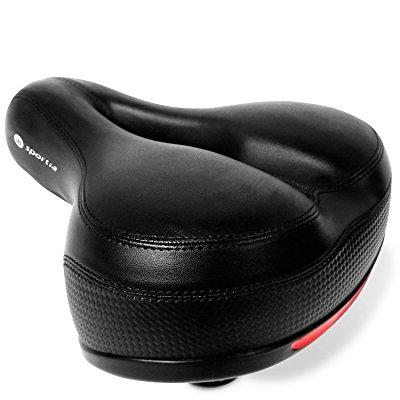 bike seat by insportia most comfortable wide cushion bicycle saddle | replacement for comfort, mountain, mtb, cruiser, cycling exercise machine for men and women