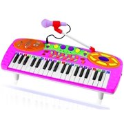 Kids Authority 37 Keys standard Kids Keyboard / Piano with Microphone - Pink