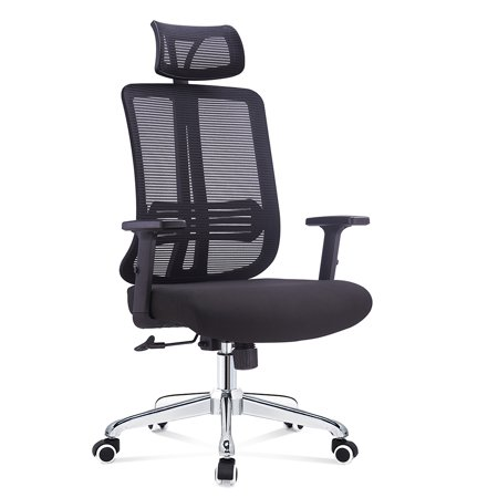 Multifunction Office Chair - FCD Mesh Ergonomic High Back Extra Thicker Padded Swivel Office Chair Multi Function, Black