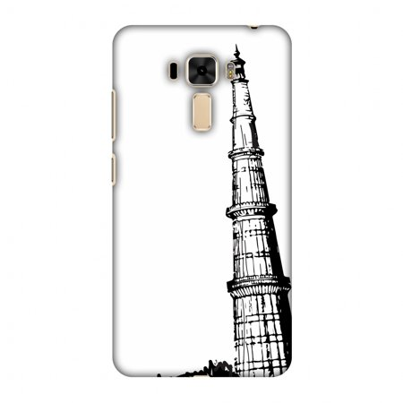 Asus ZenFone 3 Laser ZC551KL Case - Qutub Minar, Hard Plastic Back Cover. Slim Profile Cute Printed Designer Snap on Case with Screen Cleaning