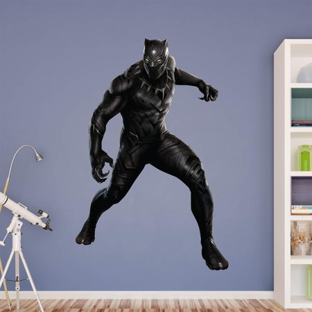 Fathead captain america civil war black panther wall for Black panther mural