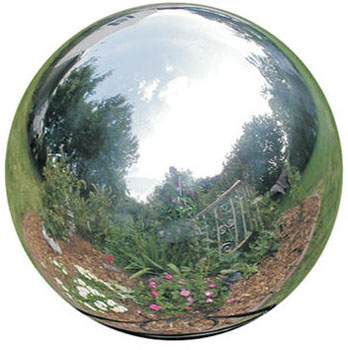 Rome 8 inch Silver Stainless Steel Gazing Globe