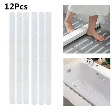 12Pcs Stairs Bath Shower Bathtub Anti Slip Tape Safety ...