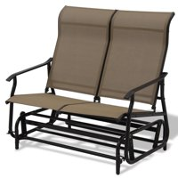 Double Patio Glider Rocking Armchair (Beige)
