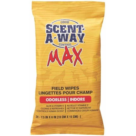 Scent-A-Way Max Field Wipes, 24pk