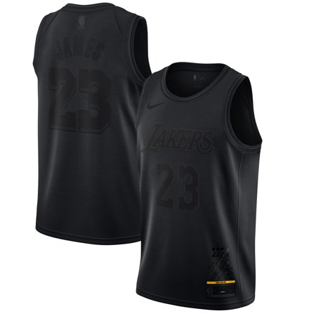 hot sale online 9a91d a6f3c LeBron James Los Angeles Lakers Nike MVP Swingman Jersey - Black