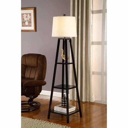 artiva usa 63 elliot wood display floor lamp. Black Bedroom Furniture Sets. Home Design Ideas