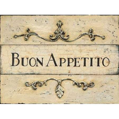 Buon Appetito Plaque Poster Print by Arnie (Carlton Fisk Plaque)