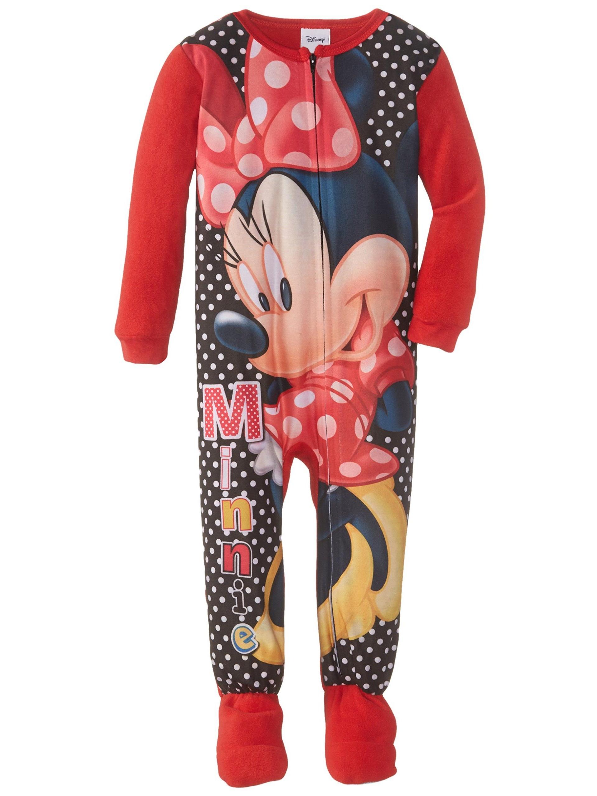 Disney Girls'  Minnie Mouse Hooded Blanket Sleeper Pajama Onesie