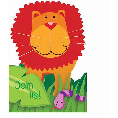 Jungle Animals Invitations w/ Envelopes (8ct)