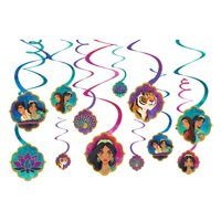 Aladdin Hanging Swirl Decorations (12pc)