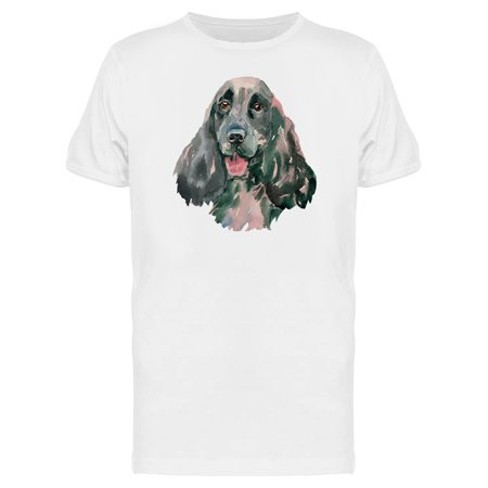 Springer Spaniel Head Painting Tee Men's -Image by