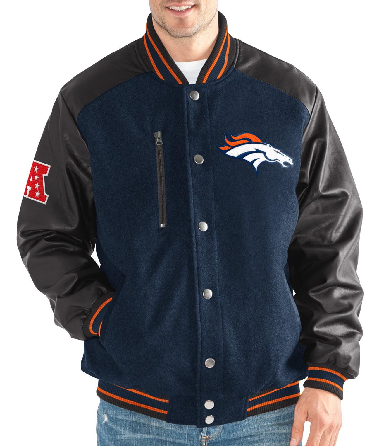 "Denver Broncos G-III NFL ""Heavy Hitter"" Men's Premium Varsity Jacket by G-III Sports"
