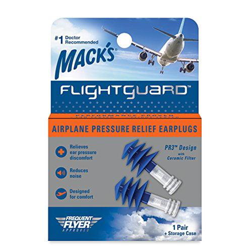 2 Pair Mack's Flightguard Airplane Pressure Relief Ear Discomfort Noise Plugs