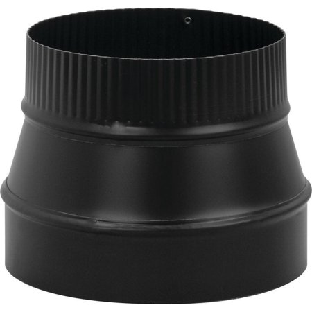 Imperial BM0079 Stove Pipe Reducer, 8 X 6 in, Small End Crimped, 24 ga ()