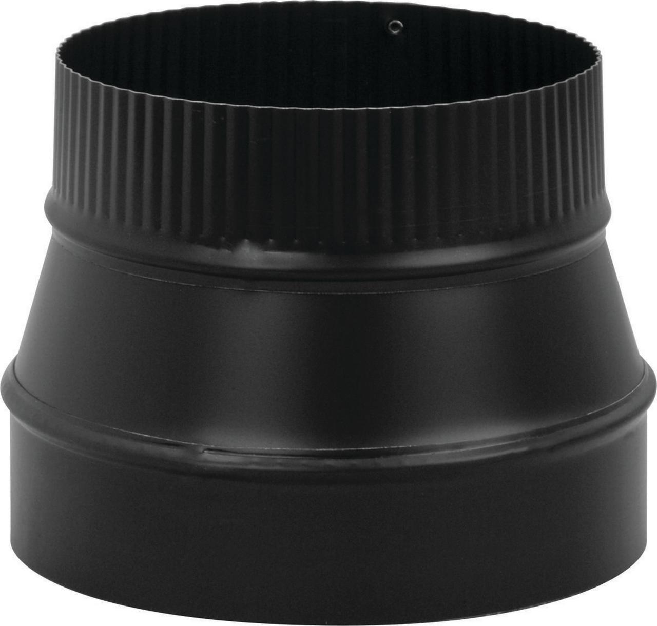 Imperial BM0079 Stove Pipe Reducer, 8 X 6 in, Small End Crimped, 24 ga