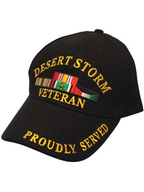 a9608fd54c3 Product Image Black Military Veteran Proudly Served In Desert Storm Baseball  Style Hat Cap