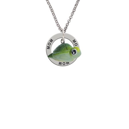 Resin Sea Turtle Mom Affirmation Ring - Sea Turtle Necklace