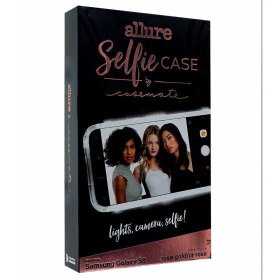 super popular 31646 cbdc0 Case-Mate Allure Selfie Case for Samsung Galaxy S8 Rose Gold LED Light
