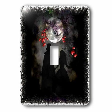 3dRose Gothic Romance DarkArt GothicArt gothic gothica couple romance romantic wedding love fullmoon - Single Toggle Switch (lsp_21484_1)](Gothic Wedding)
