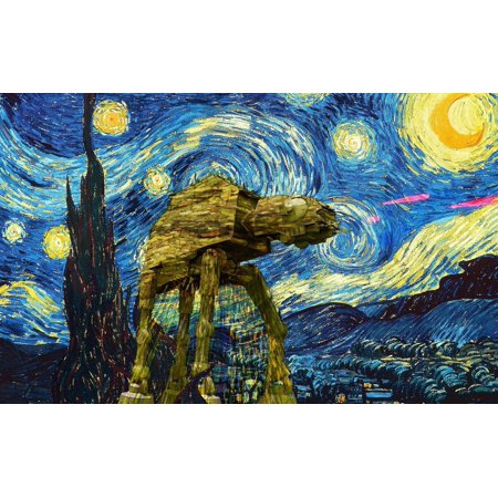 Vincent Van Gogh Starry Night Silk Fabric Cloth Poster Picture Painting Art Wall Home Decor 21